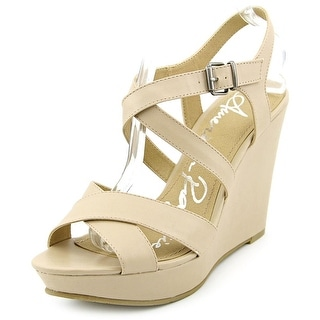 American Rag Rachey1 Women Open Toe Synthetic Tan Platform Sandal