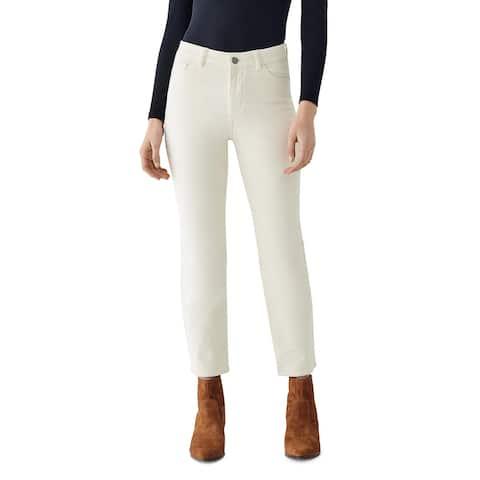 DL1961 Womens Mara Ankle Jeans High Rise Corduroy - Meringue