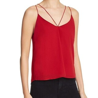 Bardot NEW Red Women's Size UK 14 US 10 T-Back Strappy Cami Blouse