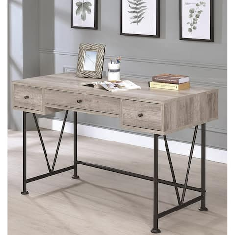 Carbon Loft DeCoursey Home Office Computer Writing Desk with Drawers