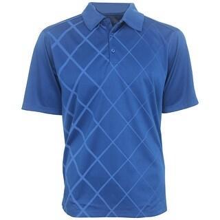 PGA Tour Diamond Print Polo Shirt