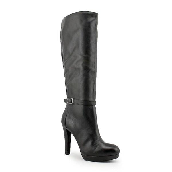 Jessica Simpson Khalen Women Round Toe Leather Black Knee High Boot
