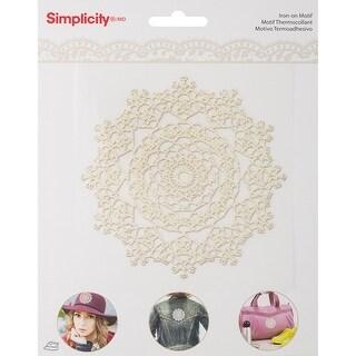 Simplicity Iron-On Transfer-White Doily Motif