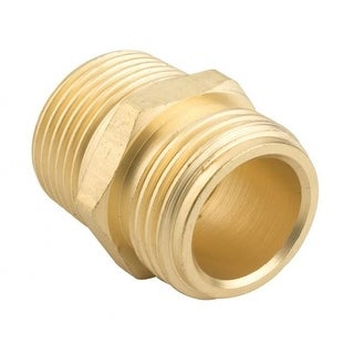 """Gilmour 7MH7MP5P Brass Double Male Hose Connector, 3/4"""" x 3/4"""""""