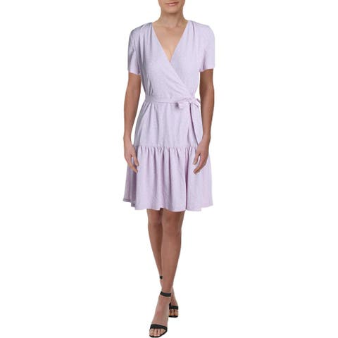 French Connection Womens Mono Armoise Mini Dress Crepe Floral - Lavender