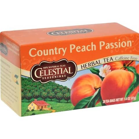 Celestial Seasonings - Caffeine Free Country Peach Passion Herbal Tea ( 6 - 20 BAG)