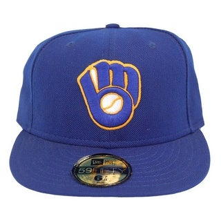 MLB Milwaukee Brewers New Era 59Fifty Royal Blue Fitted Hat Cap