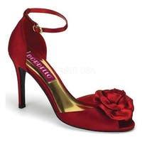 Bordello Women's Rosa 02 Red Satin