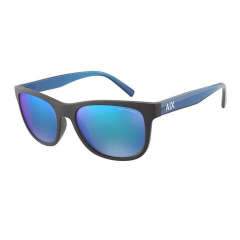 Armani Exchange AX4103S 807825 56 Matte Black Man Pillow Sunglasses