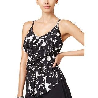 Magicsuit by Miraclesuit Womens Rita Tankini Top 12 Magnolia Blossom Black White