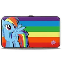 Rainbow Dash Pose Rainbow Stripe Hinged Wallet - One Size Fits most