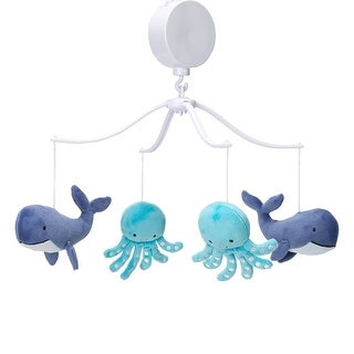 Bedtime Originals Whales Tale Blue Whale/Octopus Musical Baby Crib Mobile Toy