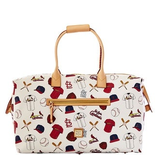Dooney & Bourke MLB Cardinals Medium Duffle (Introduced by Dooney & Bourke at $480 in Feb 2014) - White