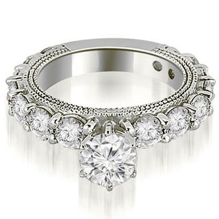 2.25 CT.TW Antique Round Cut Diamond Engagement Ring in 14KT Gold - White H-I