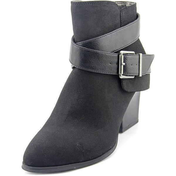 Life Stride Wendy Women Pointed Toe Suede Black Bootie