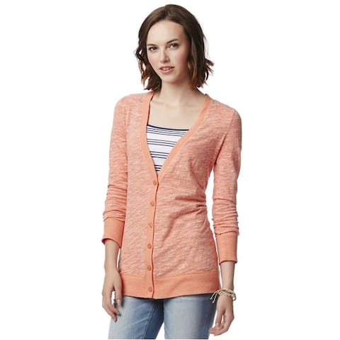 Aeropostale Womens Slub Cardigan Sweater