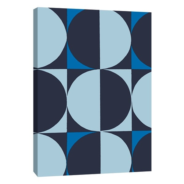 """PTM Images 9-108752 PTM Canvas Collection 10"""" x 8"""" - """"Monochrome Patterns 5 in Blue"""" Giclee Abstract Art Print on Canvas"""