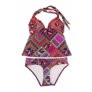 Victoria's Secret 2PC Swimsuit The Forever Tankini Set Warm Paisley Small - warm paisley