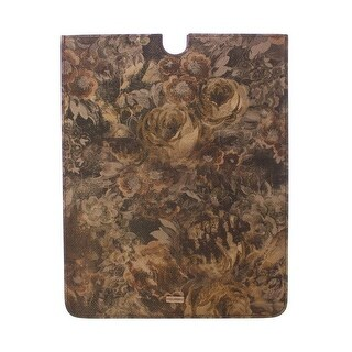 Dolce & Gabbana Dolce & Gabbana Brown Floral Logo Leather iPAD Tablet eBook Cover