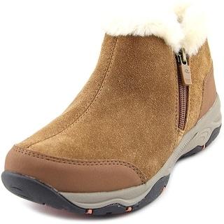 Easy Spirit Prisco Women W Round Toe Suede Brown Winter Boot