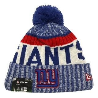 New Era New York Giants Knit Beanie Cap Hat NFL 2017 On Field Sideline 11460388