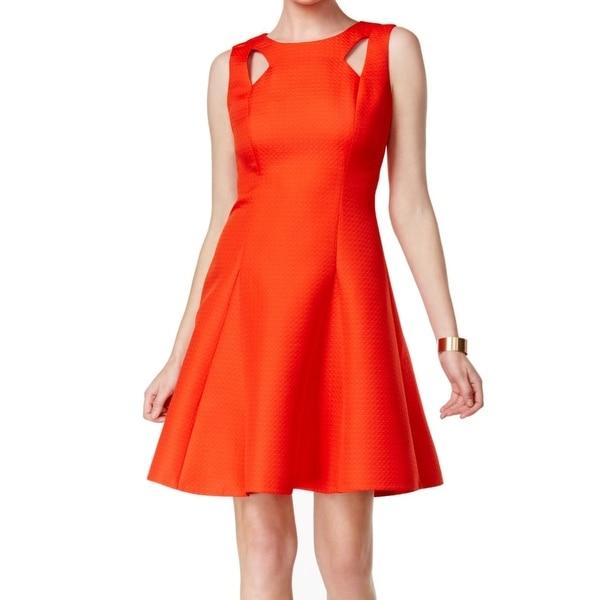 Tahari By ASL NEW Red Pepper Women's Size 14 Cutout Sheath Dress