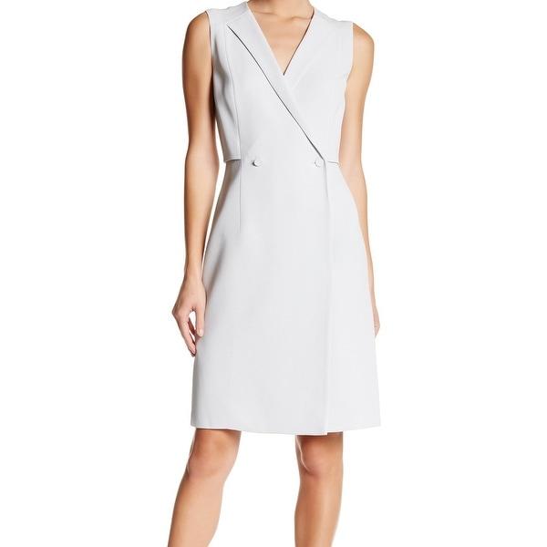 962495b3da0 Boss Hugo Boss NEW Gray Women  x27 s Size 8 Damarine Vest Sheath Dress