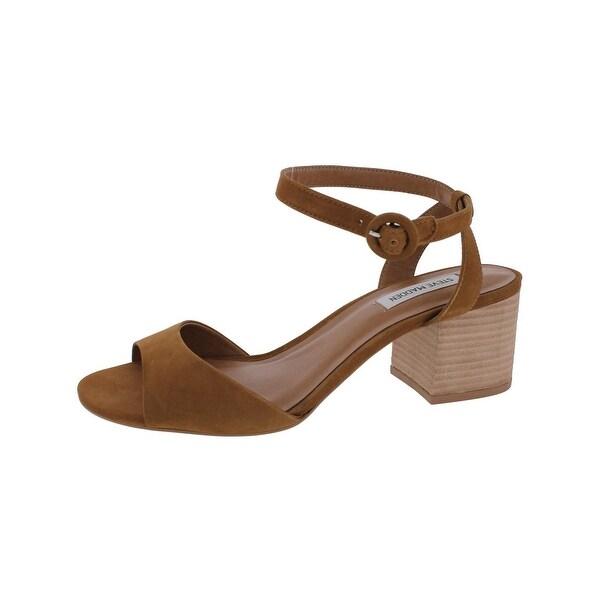 4bf44d0ca13 Steve Madden Womens Runway Dress Sandals Ankle Block Heel - 10 medium (b