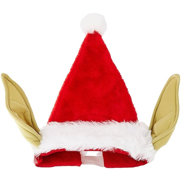 Star Wars Yoda Santa Hat With Bendable Ears - Multi