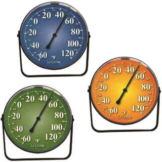 La Crosse Technology 104-1512 Weatherproof Analog Thermometers, 5""