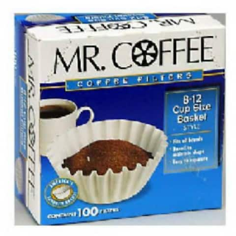 Mr. Coffee UF100 Coffee Filters for Basket Type Brewers, 100-Count