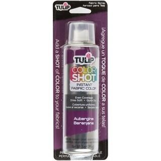 Tulip ColorShot Instant Fabric Color Spray 3oz-Aubergine - Aubergine