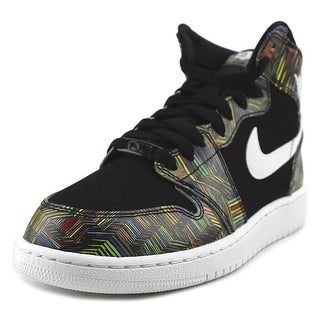 Jordan Air Jordan 1 Retro High BHM GG Youth Round Toe Multi Color Tennis Shoe