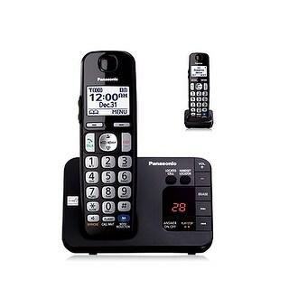 Panasonic KX-TGE232B DECT 6.0 Expandable Digital Cordless Answering System, 2 Handsets, Black