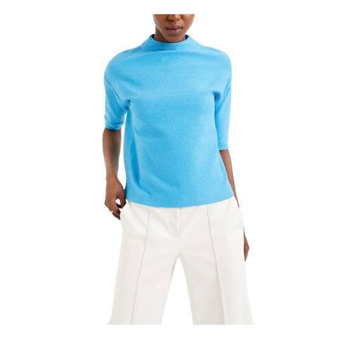 ALFANI Womens Blue Glitter Elbow Sweater Size XXL