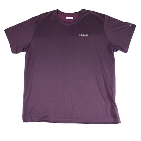 Columbia Mens T-Shirts Deep Purple Size Large L Logo Front Solid Tee