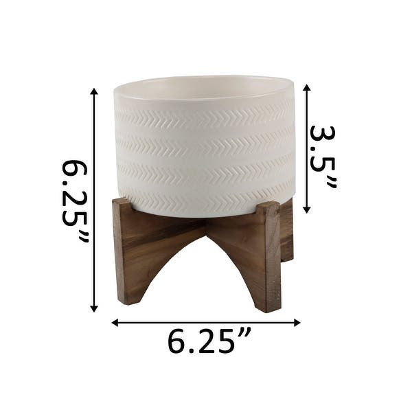 Mid Century 5 Arrow Ceramic Planter On Wood Stand Matte White Overstock 31602508 Blue In part 4, it becomes a major plot driving force for its role as the source of many new stand users; usd