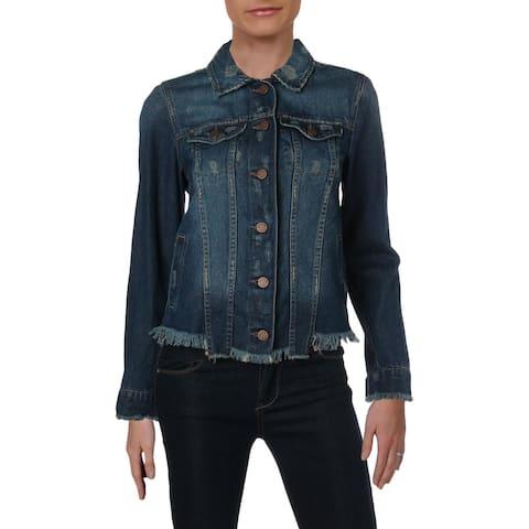 William Rast Womens Juniors Sussex New Core Denim Jacket Fall Cotton - XS