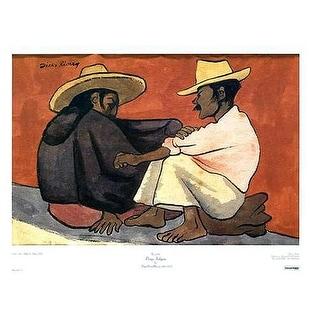 ''Pareja Indigena'' by Diego Rivera Museum Art Print (20 x 26 in.)