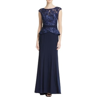 Dylan Gray Womens Evening Dress Lace Embroidered