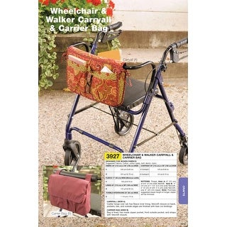 Wheelchair & Walker Carryall & Carrier Bag-No Size -*SEWING PATTERN*
