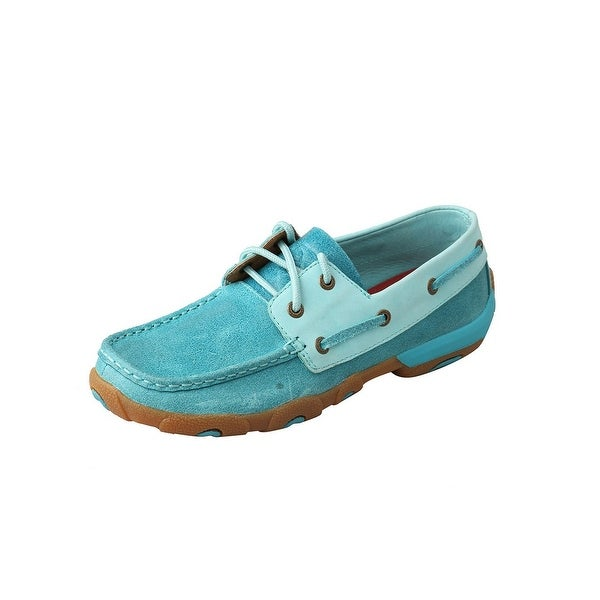 Twisted X Casual Shoes Womens Slip On Driving Mocs Ocean Blue