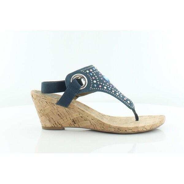 White Mountain Adeline Women's Sandals & Flip Flops Blue/Multi - 6.5