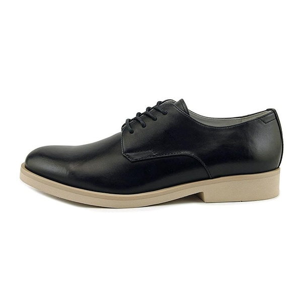 Calvin Klein Mens Faustino Leather Lace Up Dress Oxfords