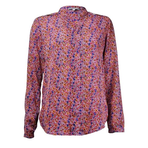 NY Collection Women's Link Trim Floral Crepe Top - Multi