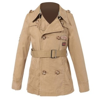 Richie House Little Boys Khaki Badges Double Breasted Jacket 4-6