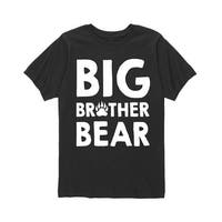 Big Brother Bear  - Brother Sister Youth Short Sleeve Tee