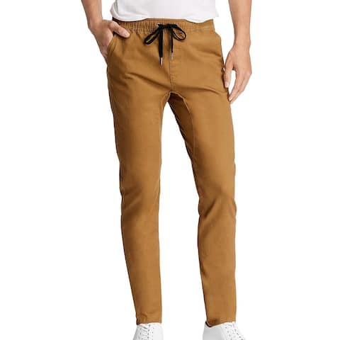 Pacific & Park Mens Pants Brown Size 2XL Stretch Twill Slim Fit Jogger