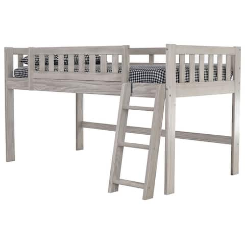 OS Home and Office Model 85204-1 Ash Twin Low Loft Bed
