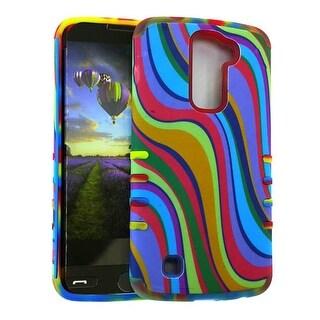 Rocker Series Slim Protector Case for LG K10 (Rainbow)